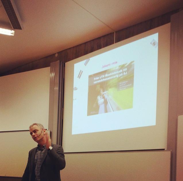 På lunchföreläsning i Linköping med fantastiskt inspirerande Johan von Porat, varumärkesansvarig på SJ.
