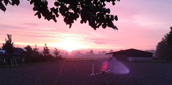 Soluppgång i Springe, Tyskland