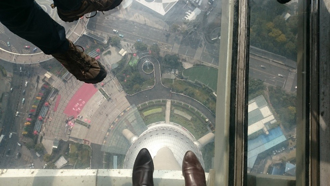 Visit to Pearl Tower in Shanghai, China